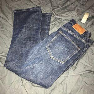 NEW! J. CREW Billie Demi Boot Crop Jeans Sz 28